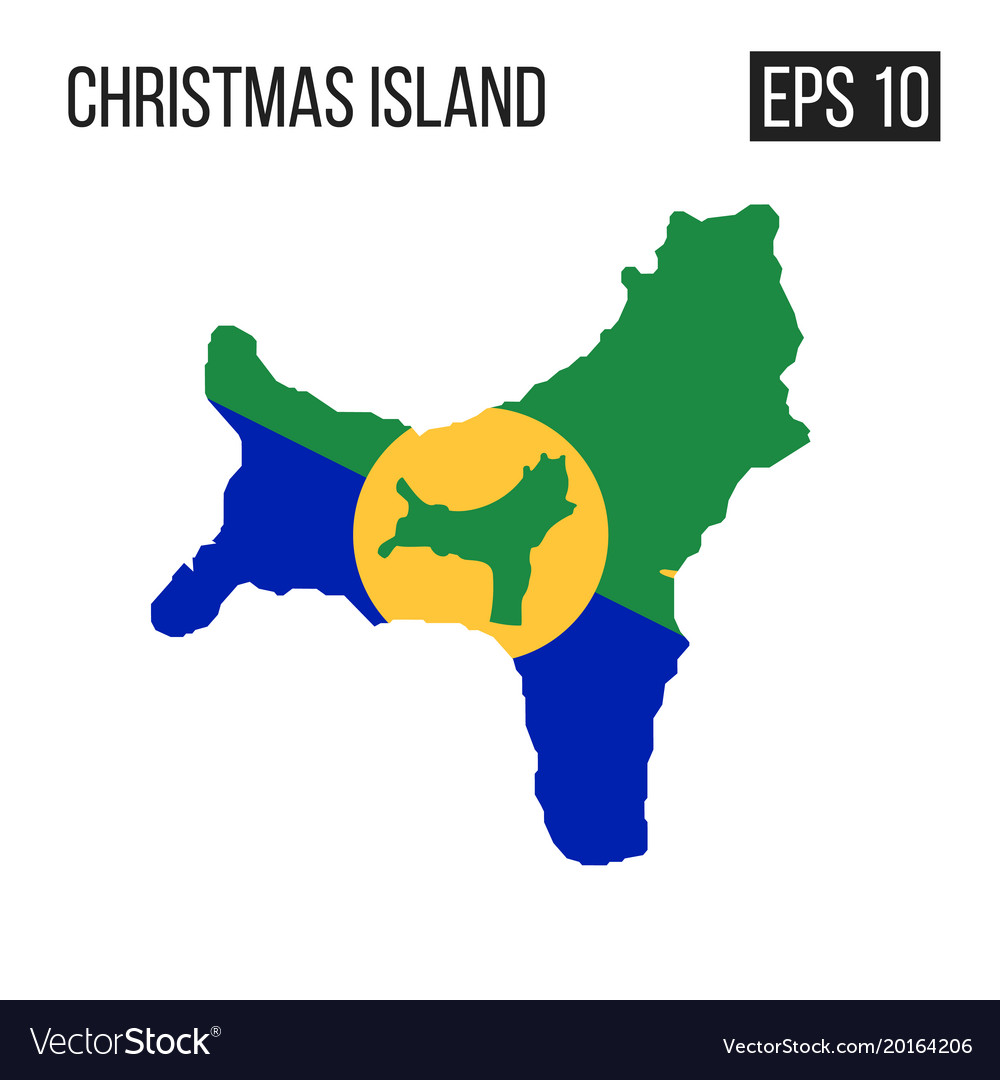 Christmas Island Flag.Christmas Island Map Border With Flag Eps10
