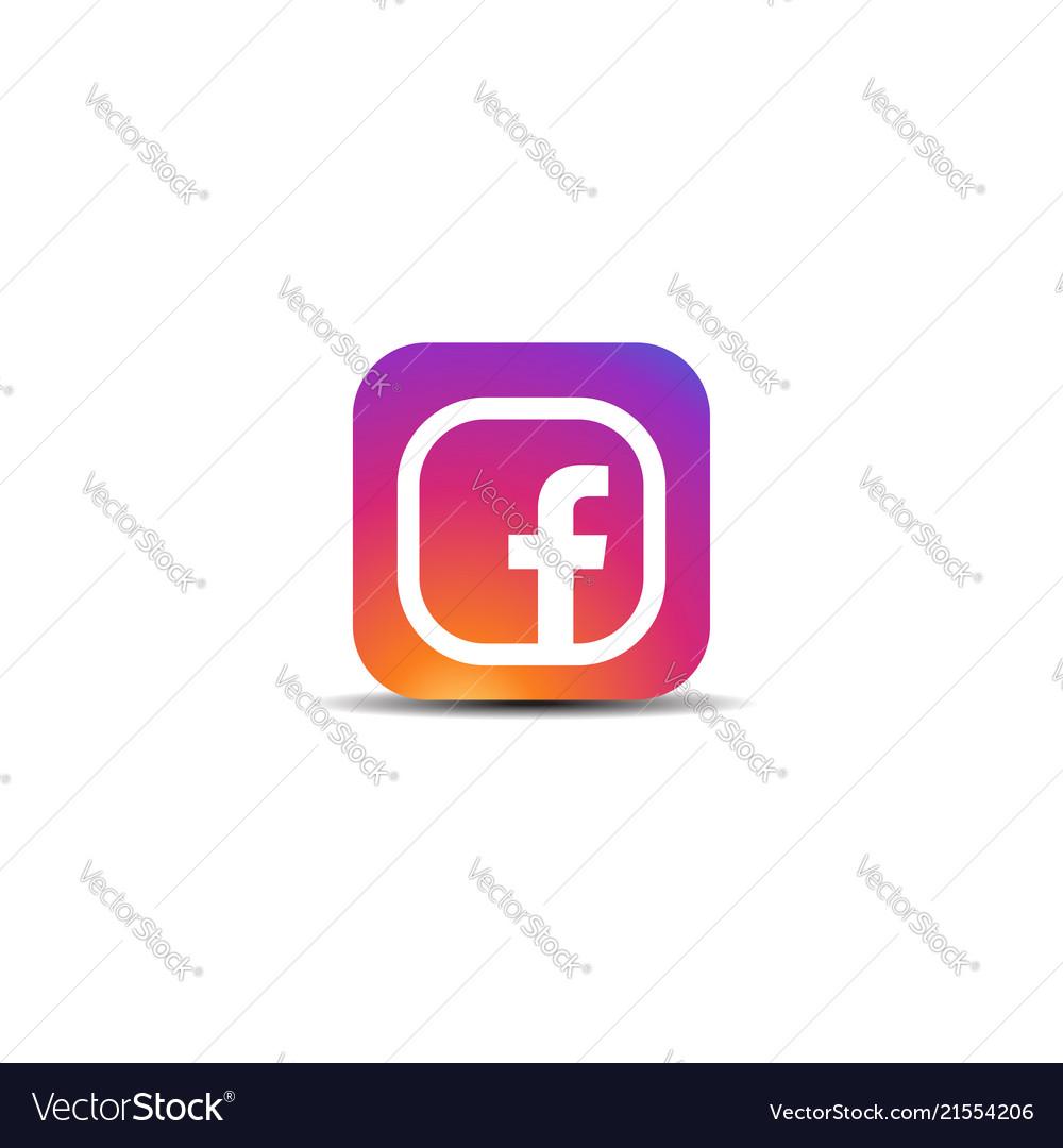 Colorful letter f icon logo
