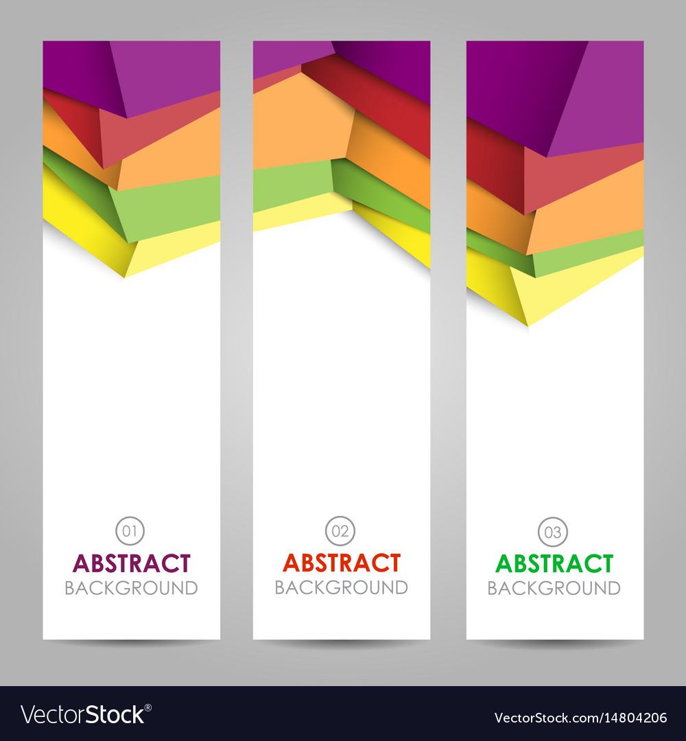 Colorful polygonal abstract banner