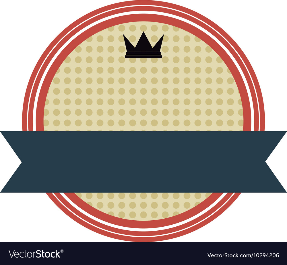 Crown masculine emblem icon