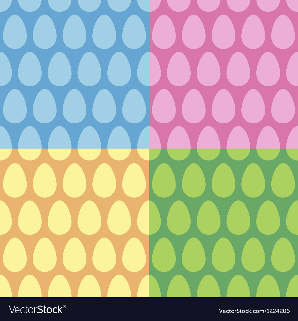 Easter egg seamless pattern and background set