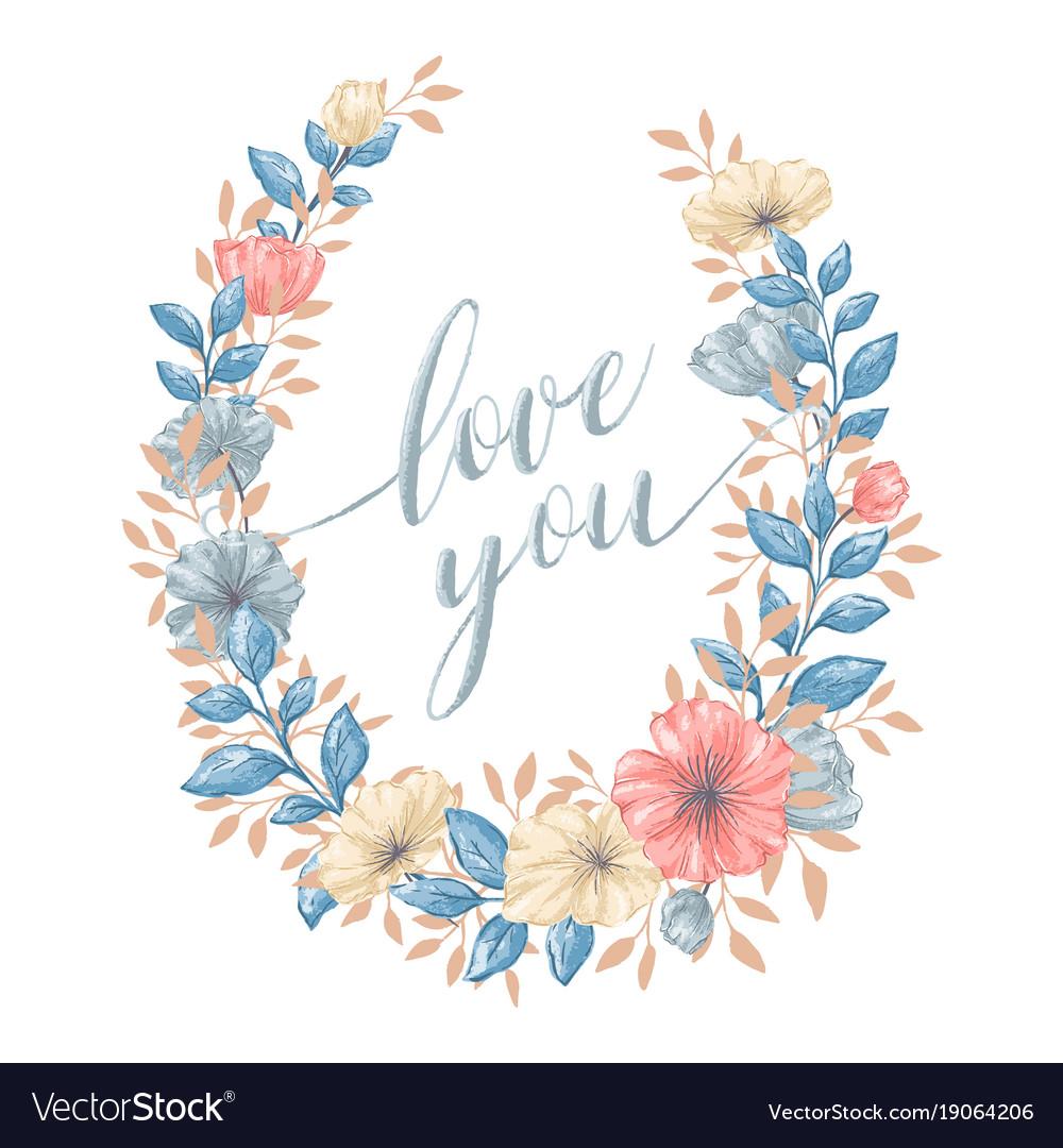 Floral love wreath