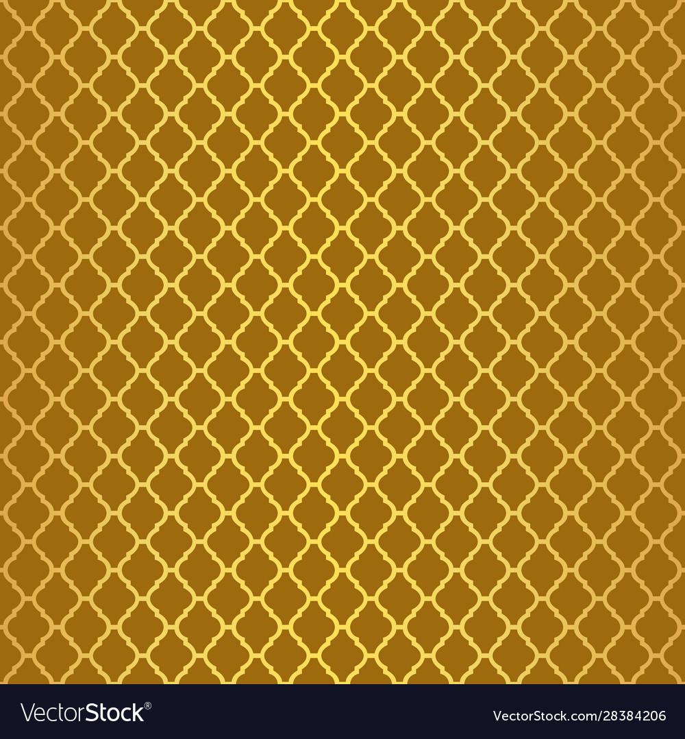 Gold luxury moroccan motif tile pattern