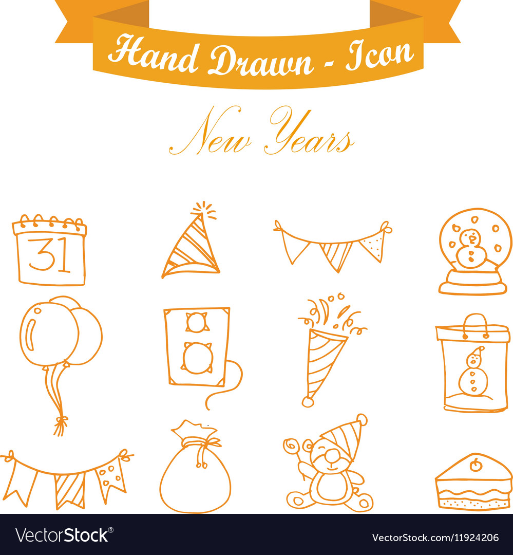 Icon of New Years element vector image