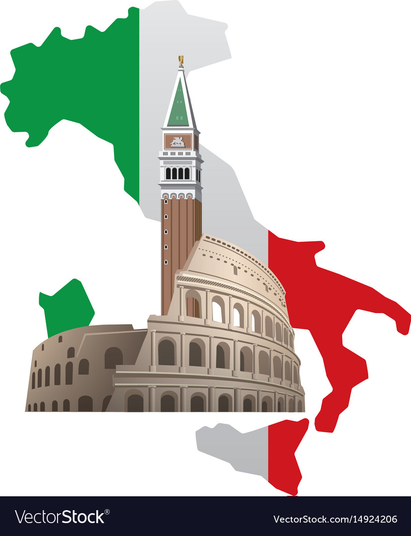 Italy with map