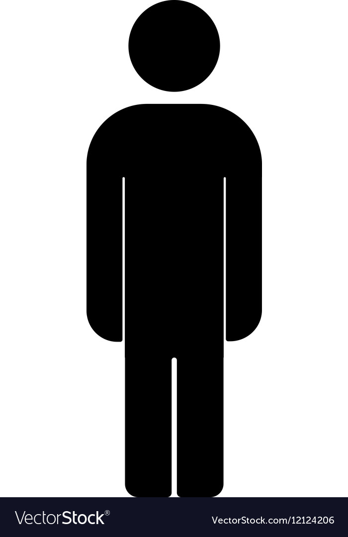 Man Icon Male Human Symbol Royalty Free Vector Image