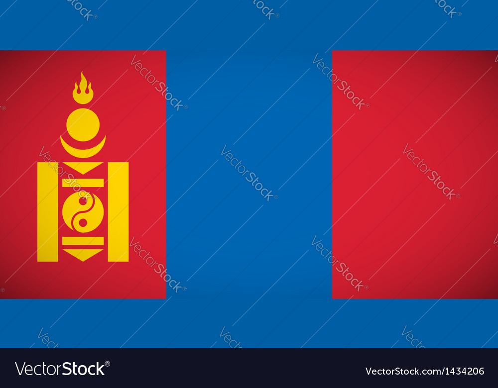 National flag mongolia