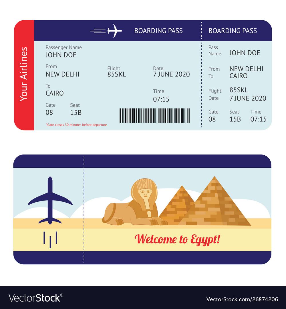 Plane Ticket To Egypt Tourism Destination Travel
