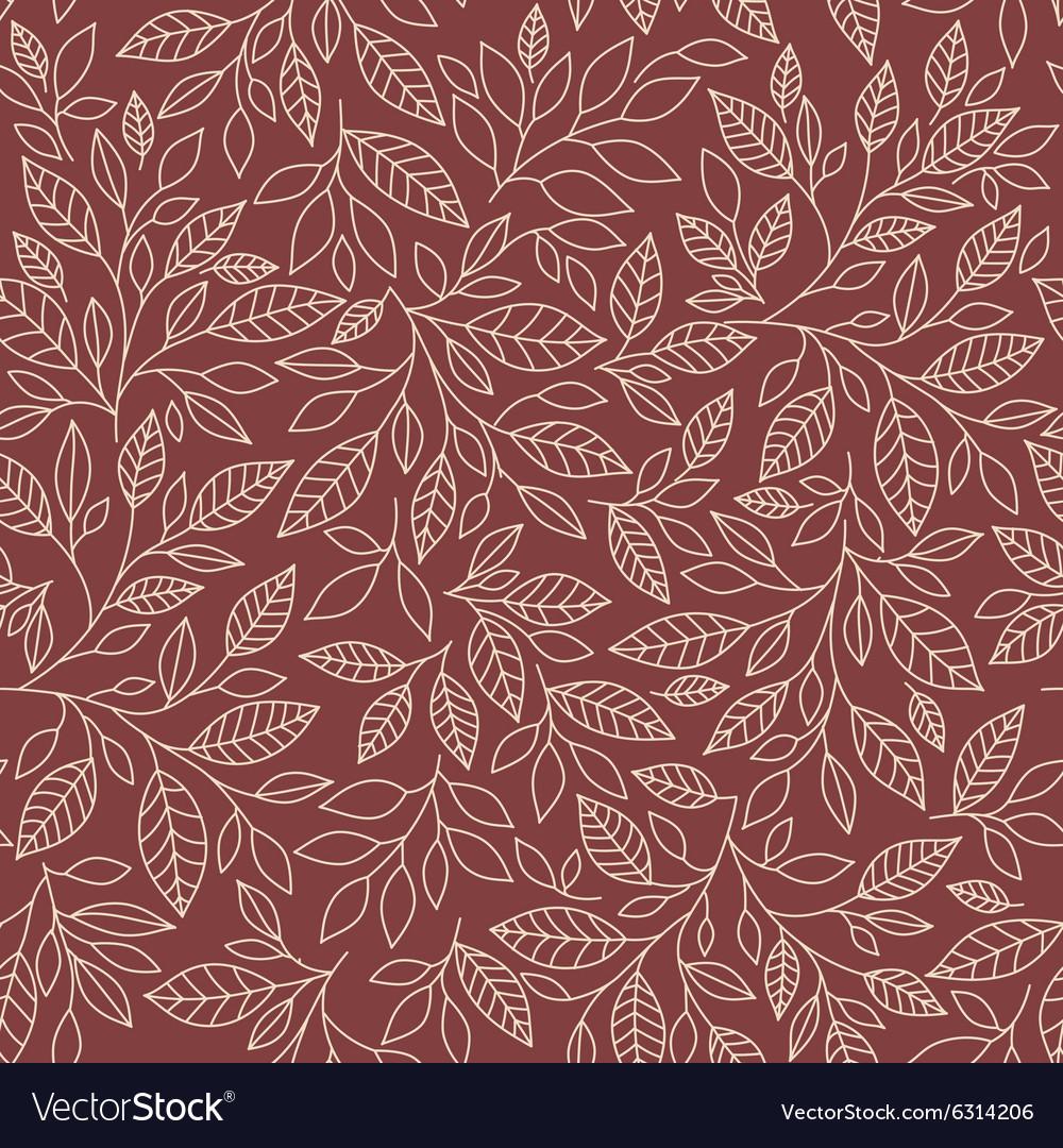 Seamless pattern of stylized leaves