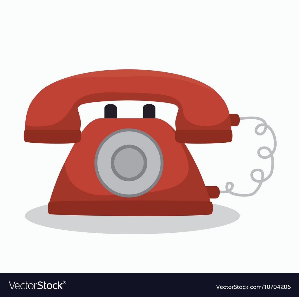 Social media telephone isolated icon design