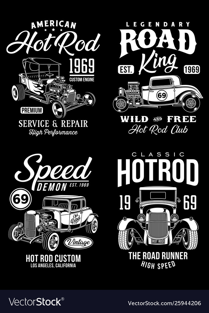 Vintage hot rod graphic t-shirts collection