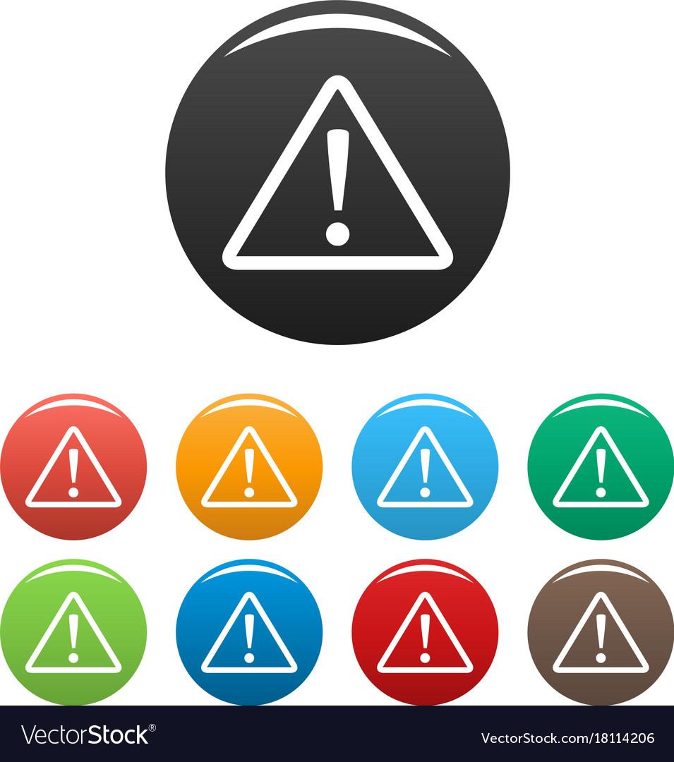 Warning sign icons set