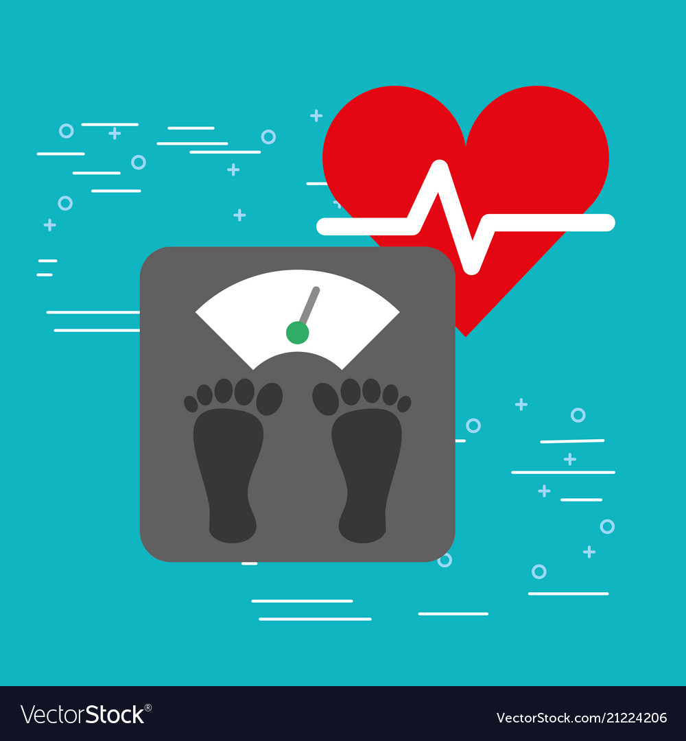 Weight scale gym heart beat healthy