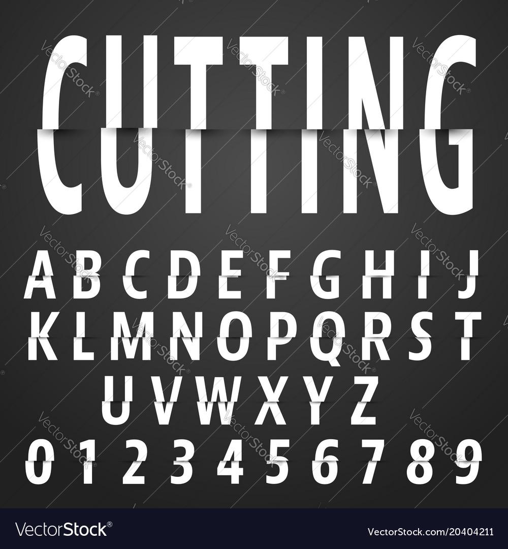 Alphabet font cutting design