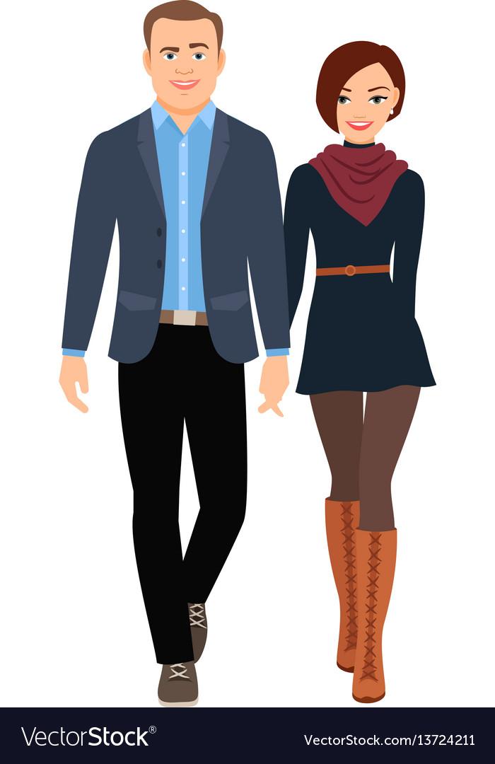 Business casual fashion couple