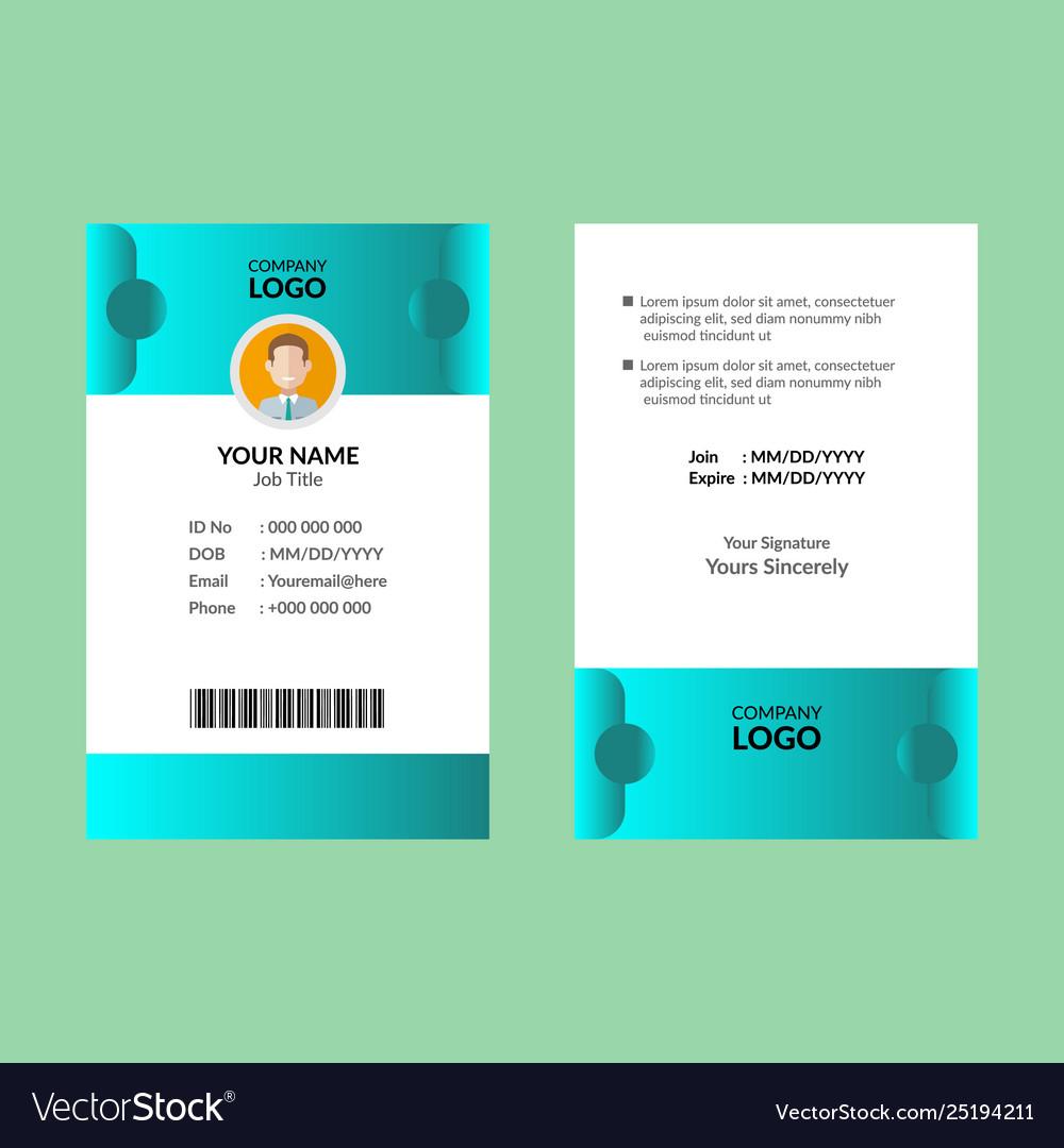 Cyan id card 22
