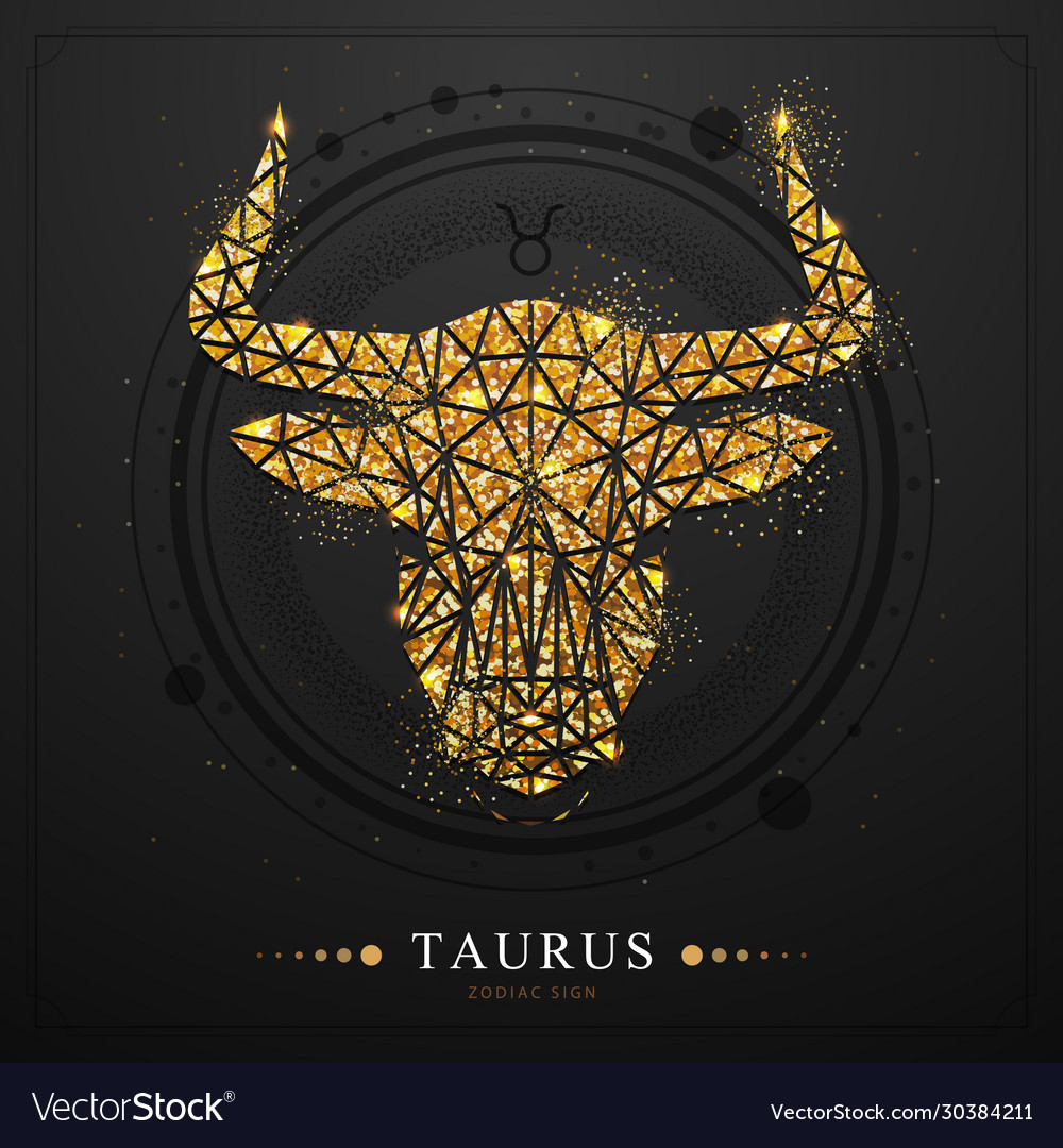 Magic witchcraft card with taurus zodiac sign Vector Image