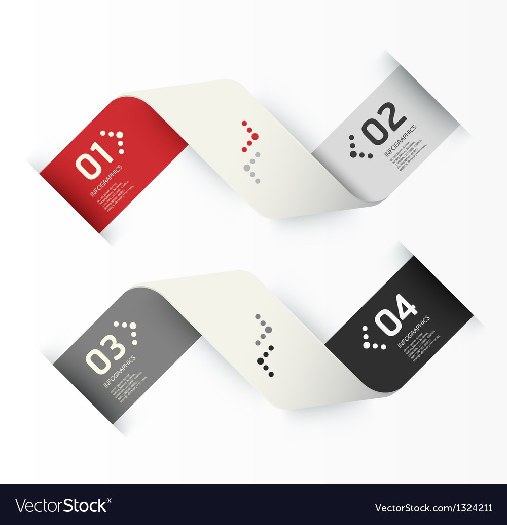 Modern Design template numbered banners