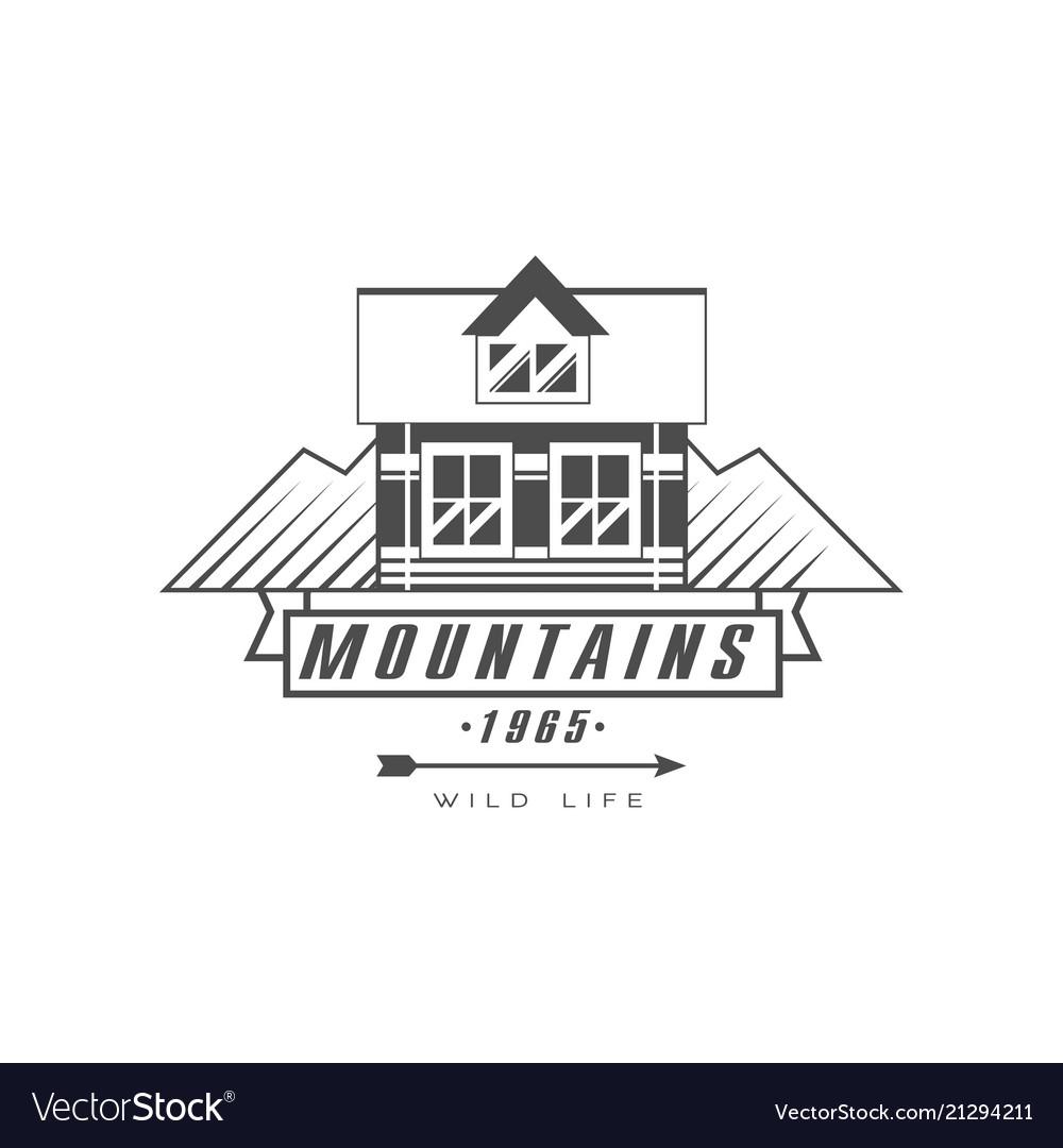 Mountains logo design premium quality vintage