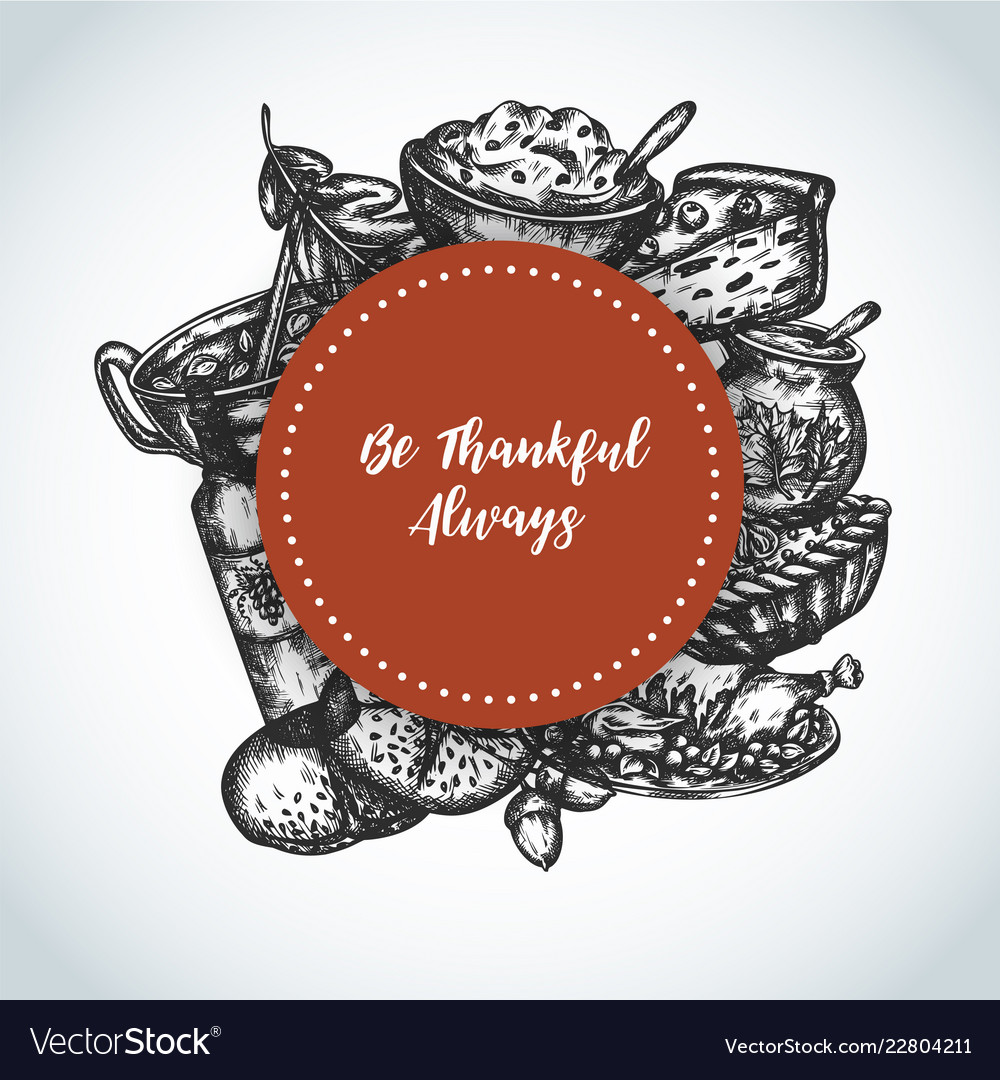 Thanksgiving day background collection of hand