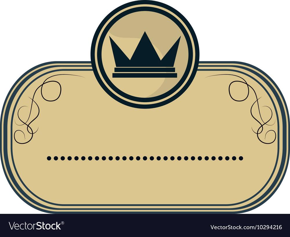 Crown masculine emblem icon