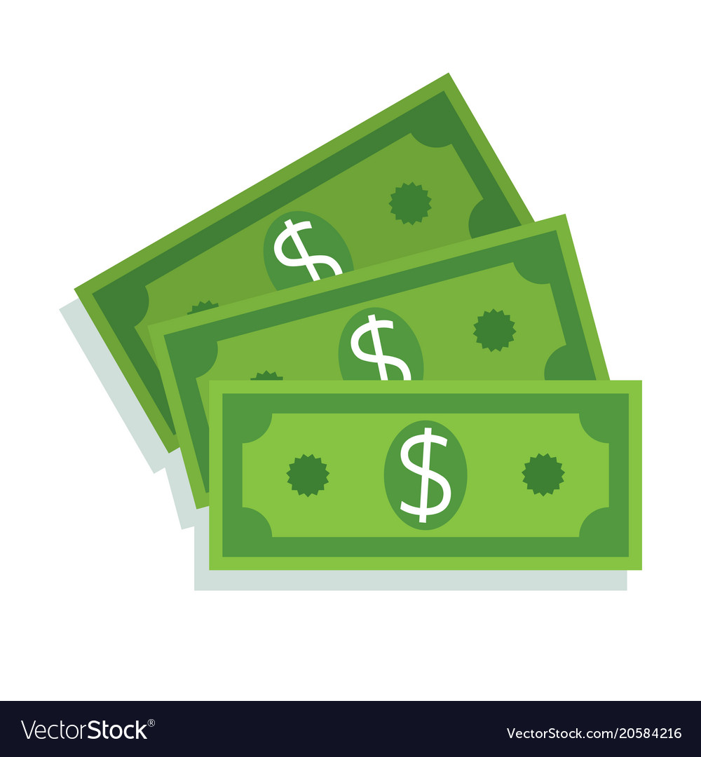 dollar bill icon money cash royalty free vector image
