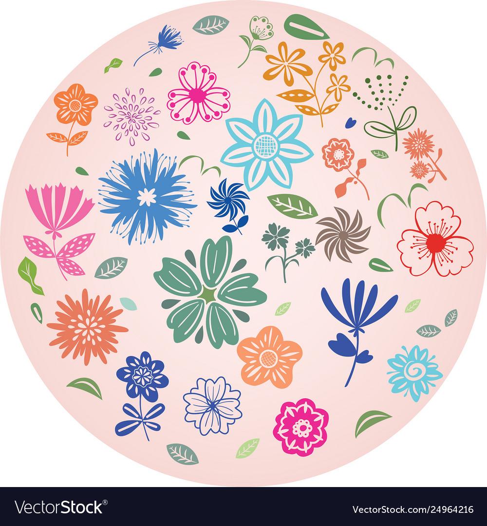 Flower element decoration