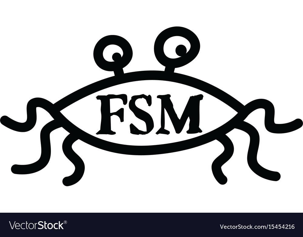 Flying Spaghetti Monster Atheism Satyr God Vector Image