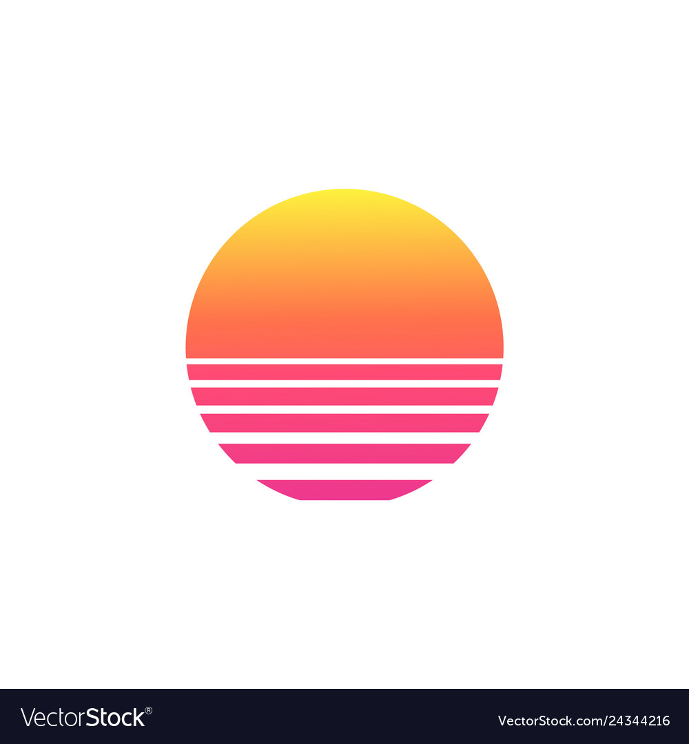 Isolated Sunset Gradient On White Background Vector Image