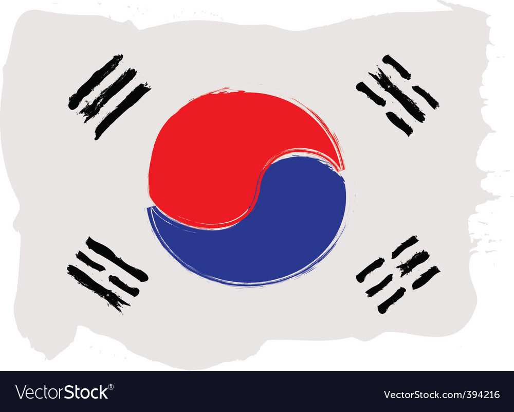 Korea grunge flag