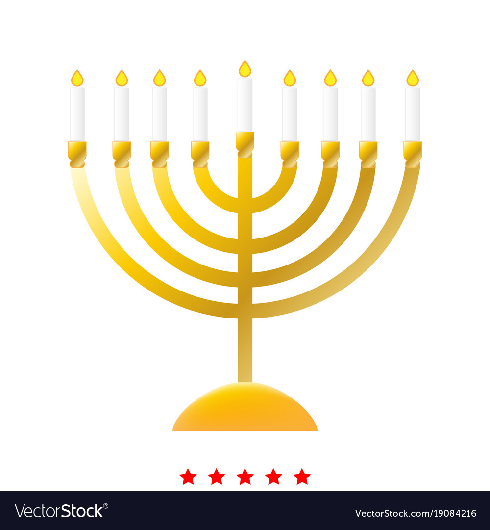 Menorah For Hanukkah Icon Different Color Vector Image