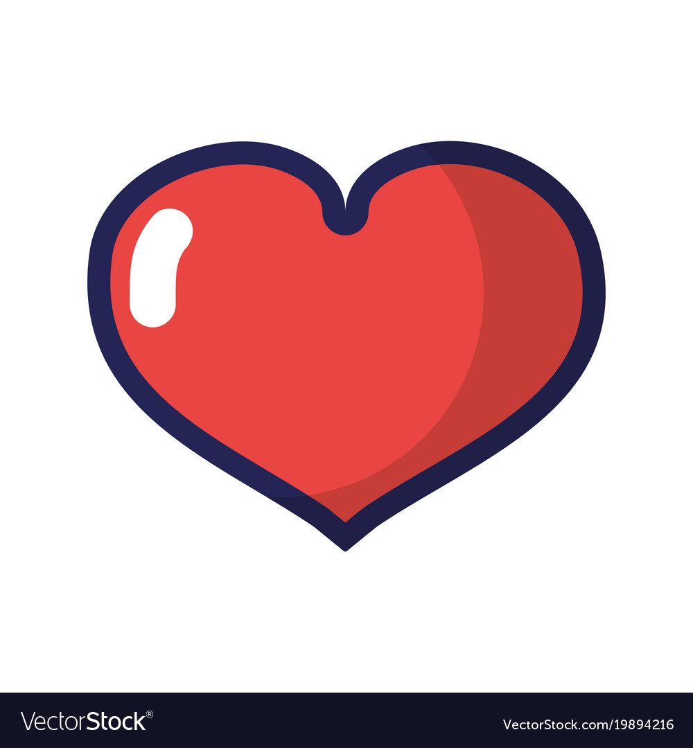 Red Heart Love Symbol Of Passion Royalty Free Vector Image