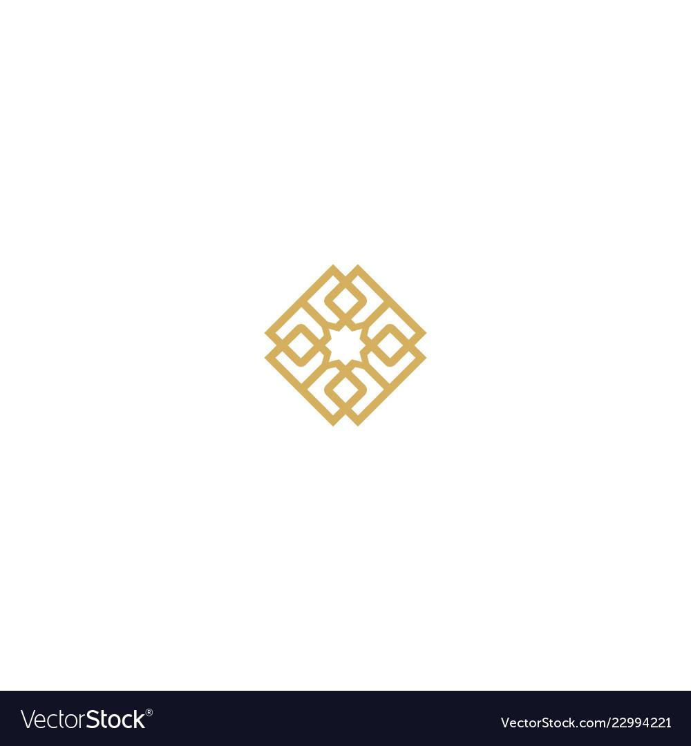 Abstract geometry decorative logo