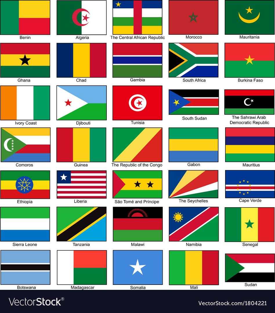 Africa Flags Set