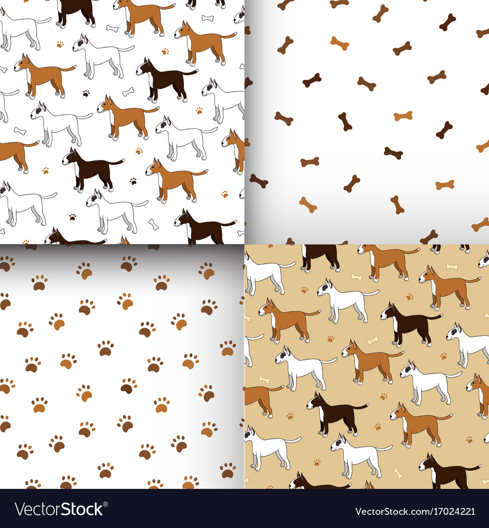 Awesome set of seamless patterns with cute