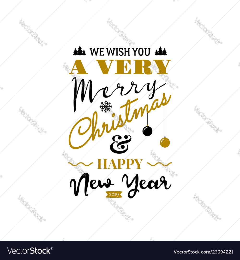 Christmas greeting card typography design usable