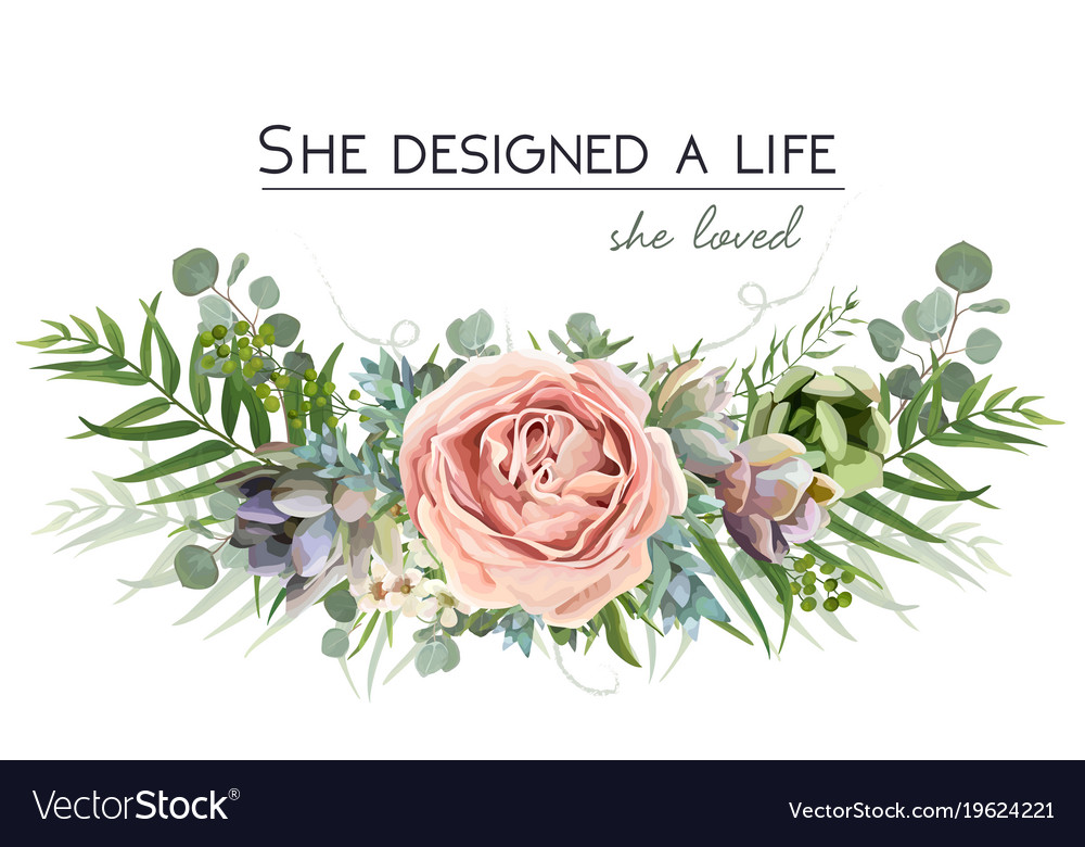 Floral bouquet design with garden pink flowers