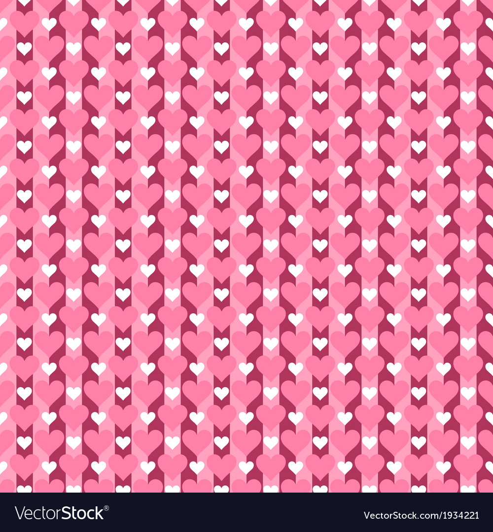 Pattern of hearts