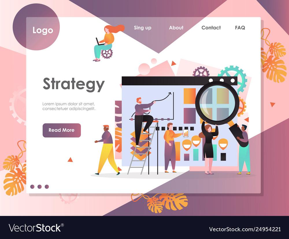 Strategy website landing page design