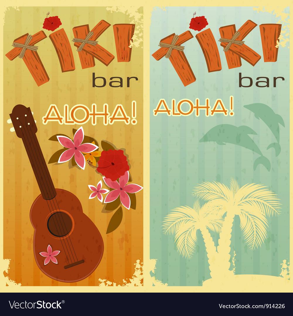 Hawaiian party vector image