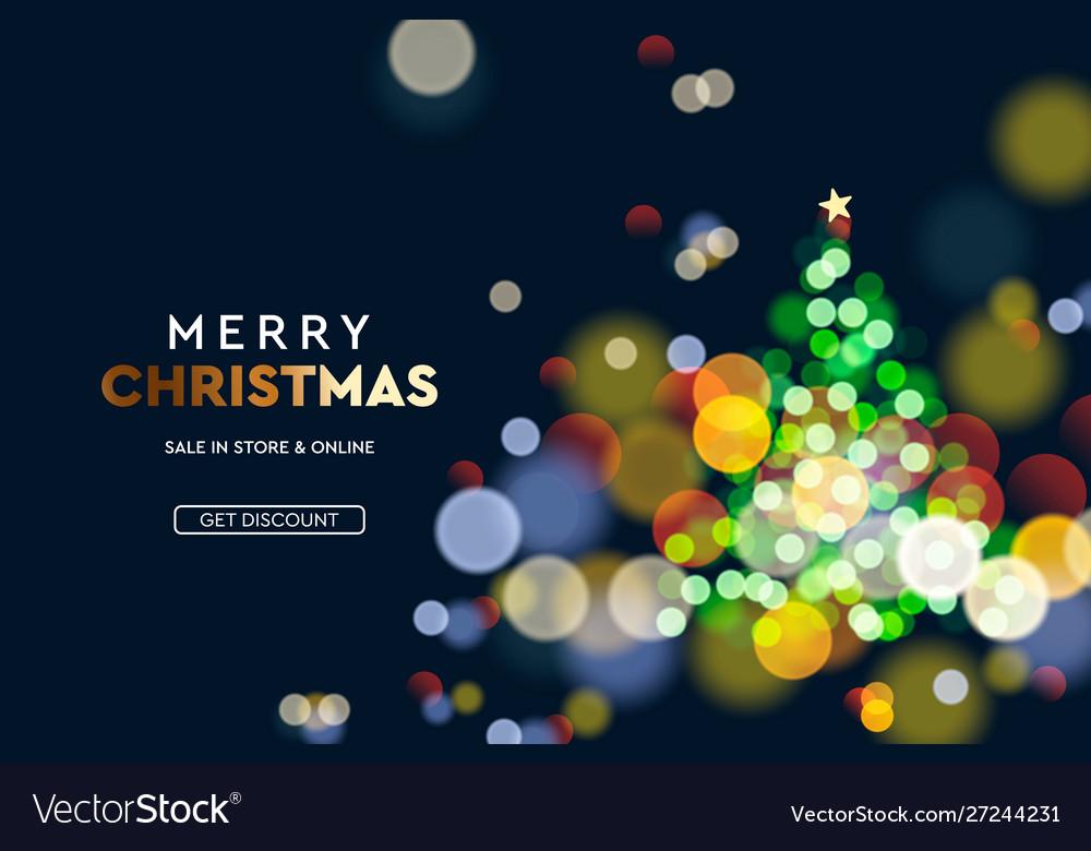 2020 new year christmas tree sparkle blur bokeh