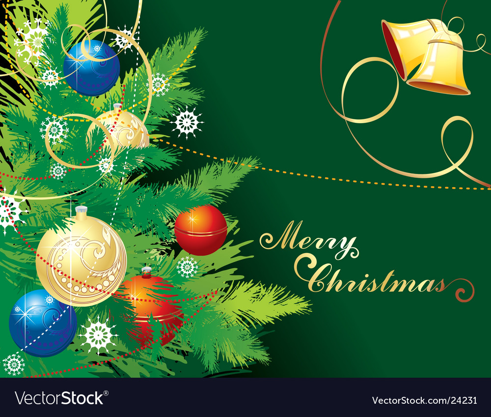 Background For Christmas Vector Image On Vectorstock