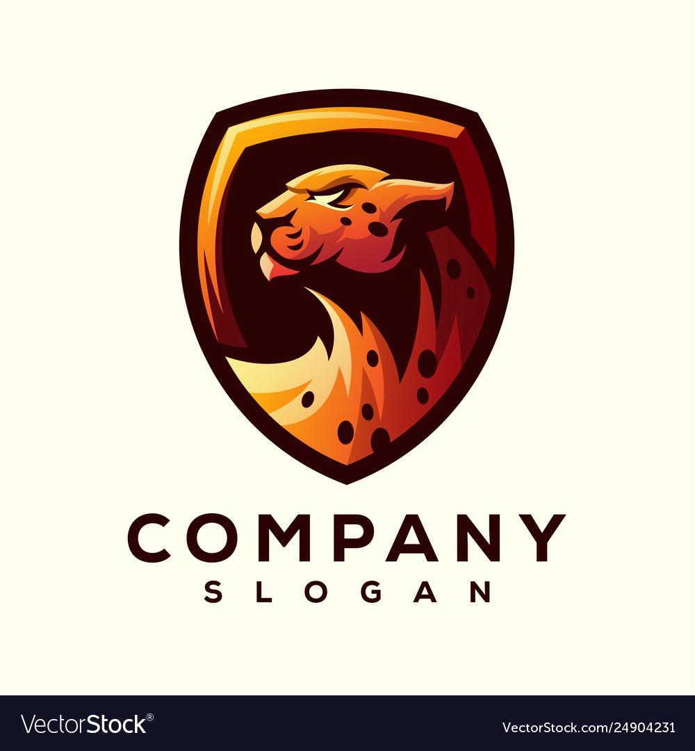 cheetah logo design royalty free vector image vectorstock vectorstock