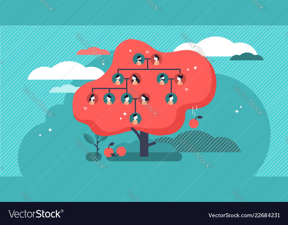 Family tree people connection