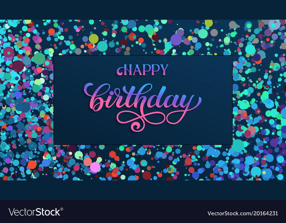 Happy Birthday Invitation Card Elegant Vector Image