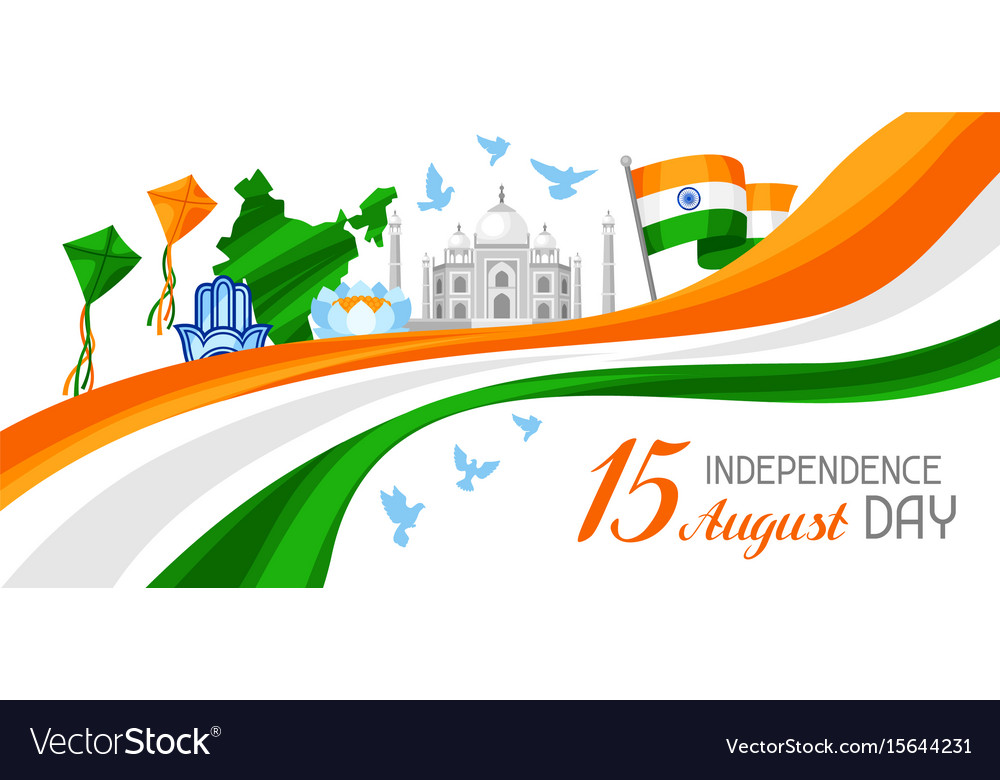 India independence day banner celebration 15 th
