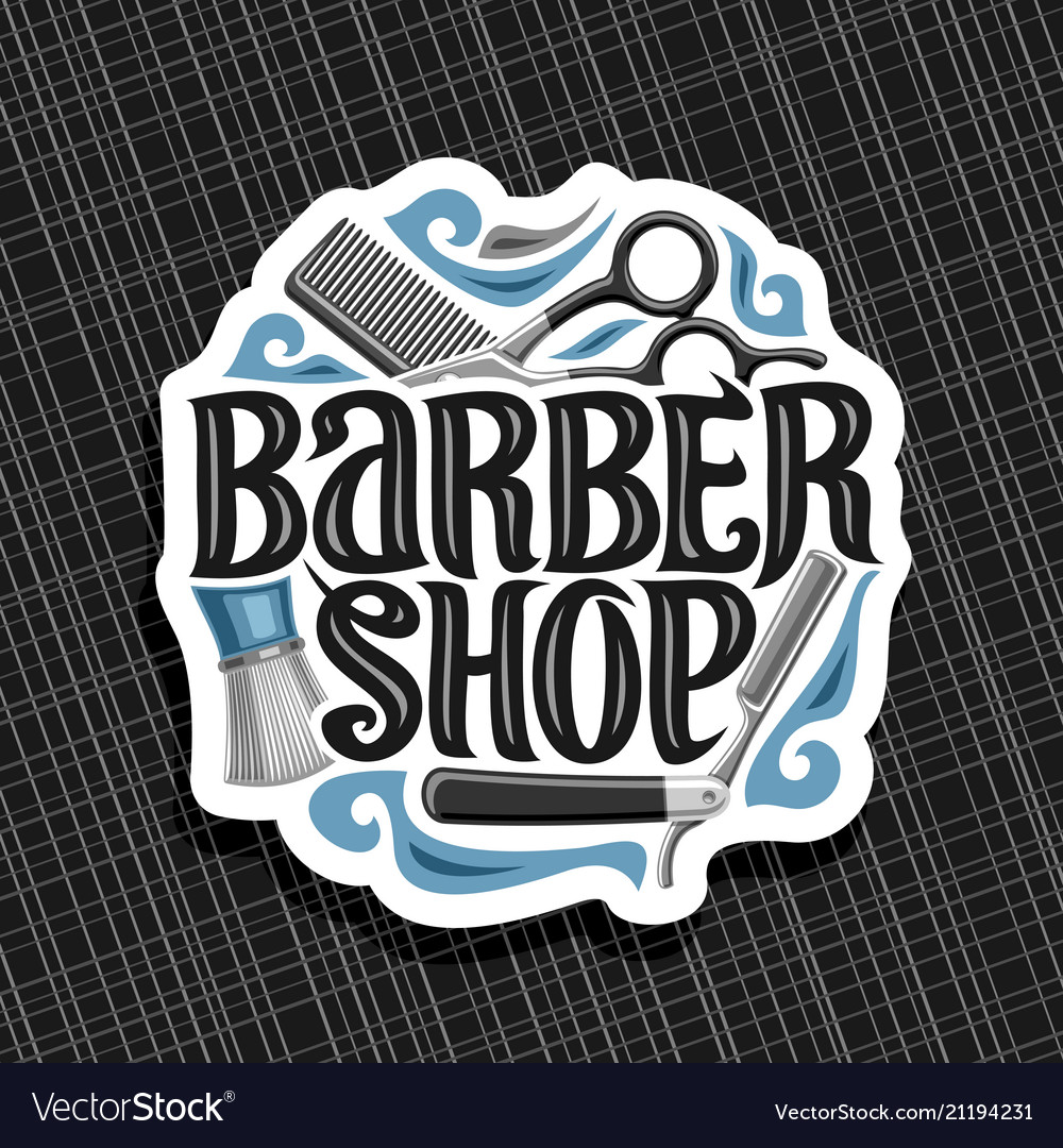 Logo for barber shop