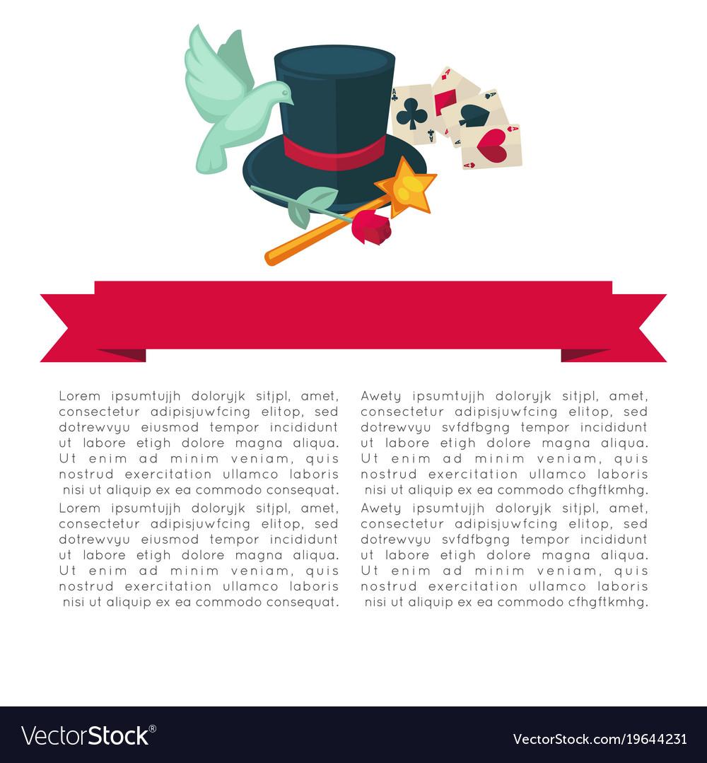 Magic show poster design of magician trick