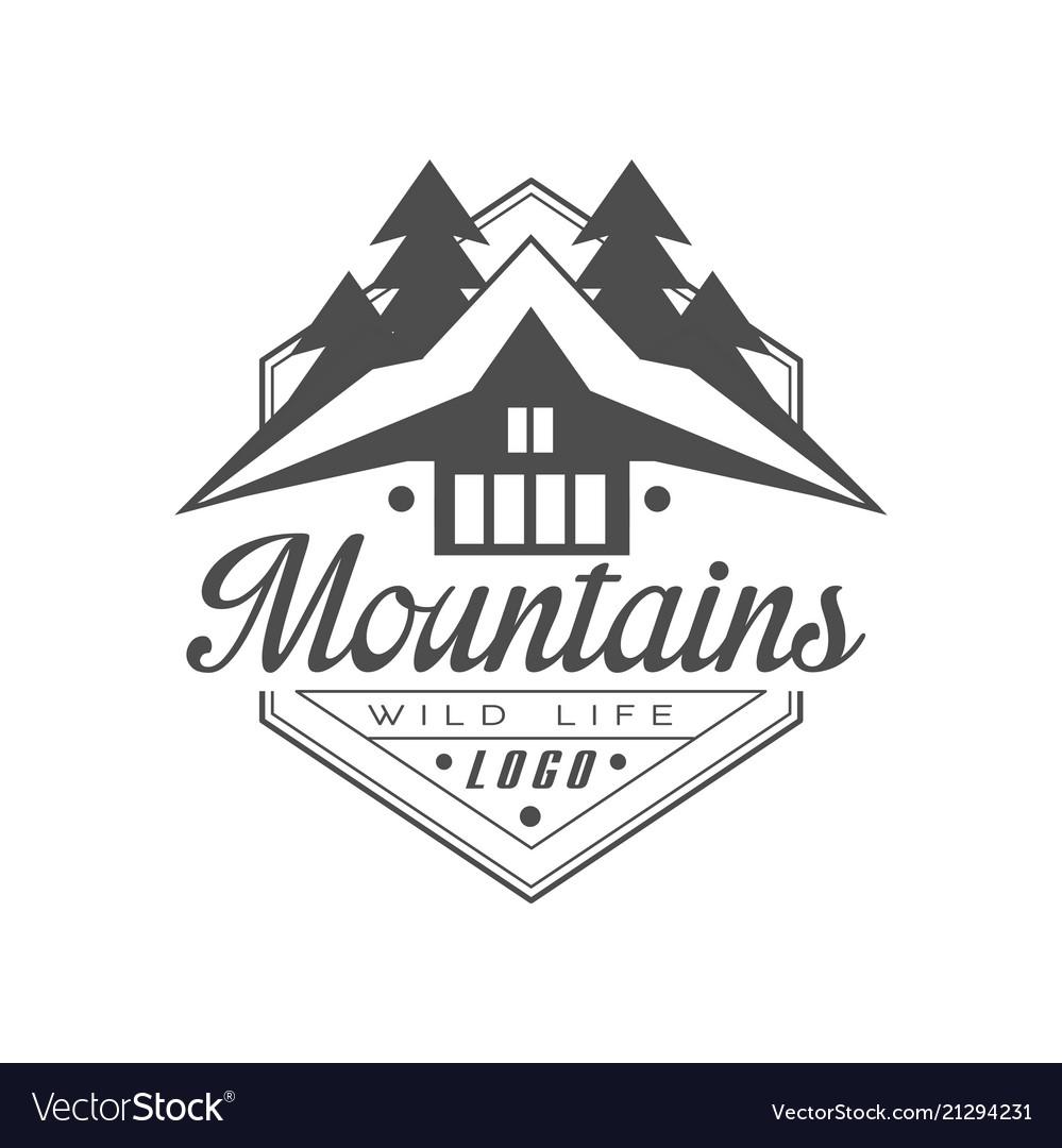 Mountains wild life logo design premium quality