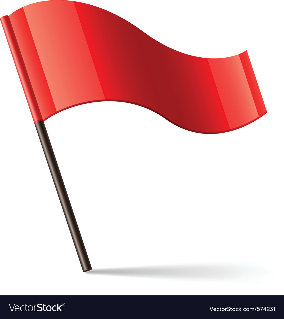 Red flag icon vector image